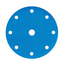 New Listing6 Inch 9 Hole Dry Sanding Paper Blue Flocking Polishing High Thin Film Blue Sand