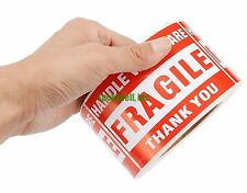 "1000 pieces 3"" x 5"" Handle With Care Fragile Label Sticker 1 roll 1000 Lable 3x5"