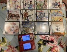 Nintendo DS Lite Red Console With 12 Games