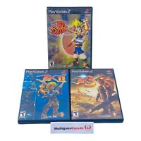 JAK & DAXTER PlayStation 2 PS2 Lot | Precursor Legacy / Jak II 2 / Jak 3 TESTED