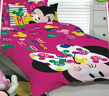 DISNEY JUNIOR MINNIE MOUSE BRIGHT PINK QUILT COVER SET DOUBLE NEW