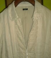 EXCEPTIONAL J. CREW Womens Natural Jacket Blazer Lined Size Medium Ruffle Front