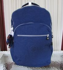 Kipling Seoul Backpack with Laptop Protection Ink Blue Large Bag BP3020 NWT
