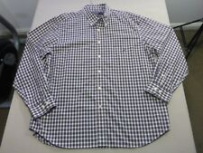 078 MENS NWOT NAUTICA BONE / NAVY / ORANGE CHECK L/S SHIRT SZE XXL $110 RRP.