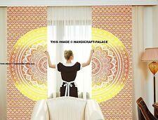 Indian Ombre Mandala Window Treatment Cotton Curtains Drape Balcony Room Curtain