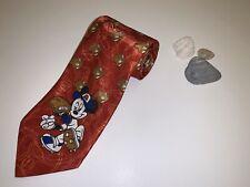 Mickey Mouse Baseball Glove Tie Maroon Pitcher Gloves Disney