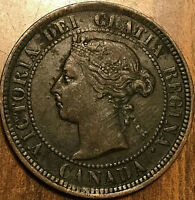 1884 CANADA LARGE CENT LARGE 1 CENT PENNY - Obv#2 variety