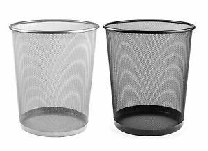 Papierkorb Mülleimer Abfalleimer Papiereimer Metall schwarz weiß Höhe 34 cm 18 L