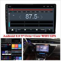 "Android 8.0 Head Unit 9"" HD Car Stereo Radio GPS SAT NAV DAB WiFi Bluetooth OBD"
