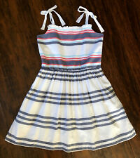 NEW! Gymboree Sun Dress Girls 6/7 Red/ White/ Blue Striped July 4th