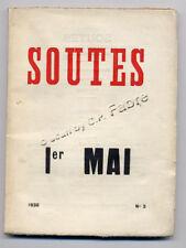 LUC DECAUNES, SOUTES 1ER MAI - REVUE CULTURE RÉVOLUTIONNAIRE  1936 N°3