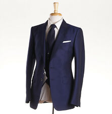 NWT $5820 TOM FORD Royal Blue Wool-Mohair 3-Piece Suit 38 R (Eu 48) O'Connor
