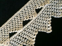 """Antique Lace Sewing Crochet Round Trim 34"""" Scalloped Edging"""