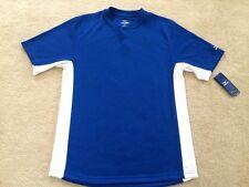 NEW MENS Size Small MIZUNO Baseball shirt Royal blue white polyester mesh NWT