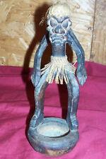 Old African Asian Wood Statue Figure Art Warrior Tribesman Vintage Carved 8�