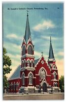 1946 St. Joseph's Catholic Church, Petersburg, VA Postcard