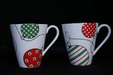 Lenox Merry & Bright Set of 2 Christmas Ornaments Mugs