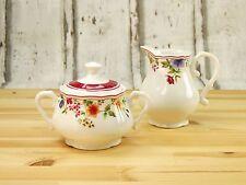 Cornwall Garden Milch Zuckerset 2teilig  Blütendekor Porzellan CreaTable 16145