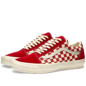 Vans Old Skool OG Vault Skate Shoes 13 Chili Pepper Checkers Suede Canvas