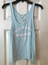 NWT Victoria's Secret PINK Salt Water Wasted Tank  Top Small Baby Blue