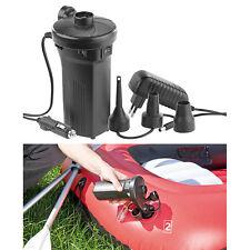 Akkupumpe: Elektrische Akku-Luftpumpe mit 3 Aufsätzen, für 12 & 230 V, 50 Watt