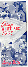 1953 Chicago White Sox Spring Training Roster & Schedule (Media Guide) Original!