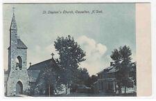 St Stephens Church Casselton North Dakota 1909 postcard