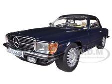 1977 MERCEDES 350 SL CLOSED CONVERTIBLE DARK BLUE 1/18 BY SUNSTAR 4608