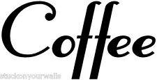 COFFEE KITCHEN WALL WORDS DECAL STICKER CUSTOM  Many Colors to choose from