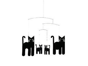 Flensted Halloween Black Cats Modern Hanging Baby Child Mobile Nursery Decor