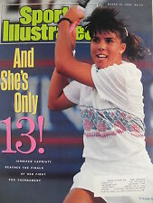 JENNIFER CAPRIATI - SHE'S ONLY 13!  March 19, 1990 Sports Illustrated