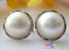 Sea Mabe Pearl Earring Silver p1706 Real 20Mm White South