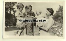 r0320 - Princess Elizabeth & Duke of Edinburgh with Charles & Anne - postcard