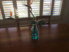 Blue glass vase 30 centimeter tall
