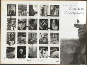 Scott #3649 Used S/Sheet of 20, Masters of American Photography