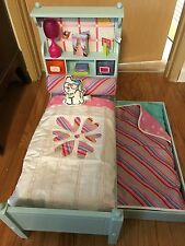 American Girl doll BOUQUET Trundle BED & Bedding SET Just Like Me 18 inch doll
