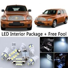 8X Bulb Car LED Interior Lights Package kit For 2006-2011 Chevrolet HHR White NQ