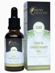 Nuvi Oregano Öl 20 ml Tropfen 80% Carvacrol 100% aetherisches Oreganoöl