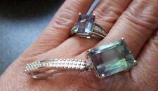 925er Silber- Mehrfarbiger Fluorit Ring (17) + Anhänger  - Juwelo -  WIE NEU