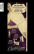 1949 Men and boys Carter's Trigs Underwear Vintage Print Ad 13301