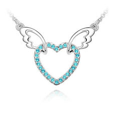 Piece Of My Heart In Heaven Guardian Angel Necklace Made with CZ Crystal