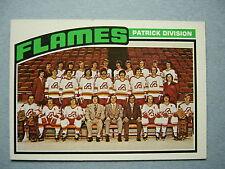 1976/77 TOPPS NHL HOCKEY CARD #132 ATLANTA FLAMES CHECKLIST NM SHARP 76/77 TOPPS
