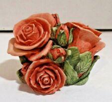 "Harmony Kingdom Garden ""Double Pink Rose"" Hgledpr Martin Perry 126/5000 Ltd"