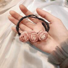 Fashion Korea Flower Elastic Headband DIY Magic Hair Bun Maker Hairstyle Tools