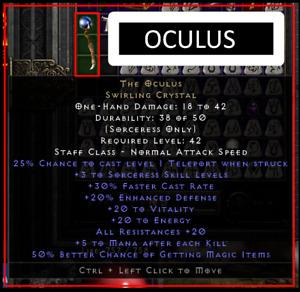 Oculus Occy Sorc MF ocu ✅ PC-XBOX-PS4-PS5-PSN✅ Diablo 2 Resurrected D2R Softcore