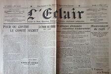 WW1 GUERRE 1914 - 1918 JOURNAL L ECLAIR de MAI 1916 LOT de 29 N° BATAILLE VERDUN