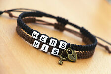 Couple Bracelets His and Hers Bracelets Lock and Key Braclet Friendship CP-386