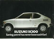 SUZUKI  SC100 CAR SALES 'BROCHURE' SHEET 1979 1980