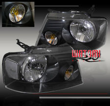 2004-2008 FORD F-150 CRYSTAL HEADLIGHTS BLACK 2006 2007