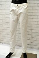 Pantalone Bianco Uomo REFRIGIWEAR Taglia 33 Pants White Regular Cotone Elastico